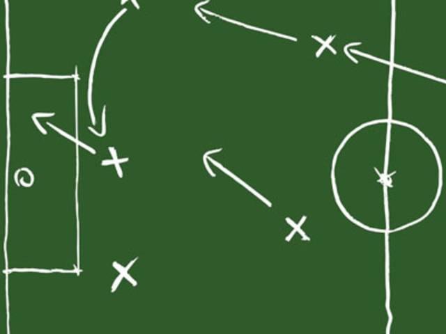 Campo di calcio e tattica